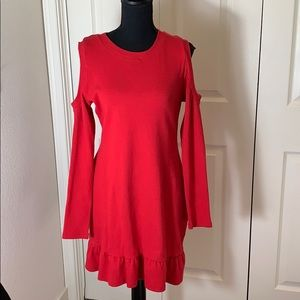 Avec Les Filles Cold shoulder sweater dress large